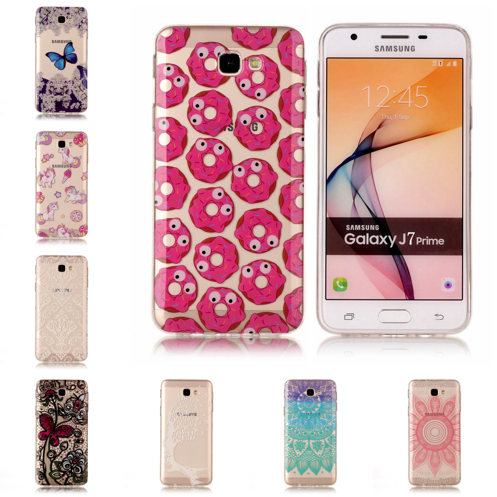 For Samsu Sumsung Galaxy J7 Prime New Pretty Silicone Transparent TPU Soft Ultra Case Etui Fundas Phone Mobile Carcasa