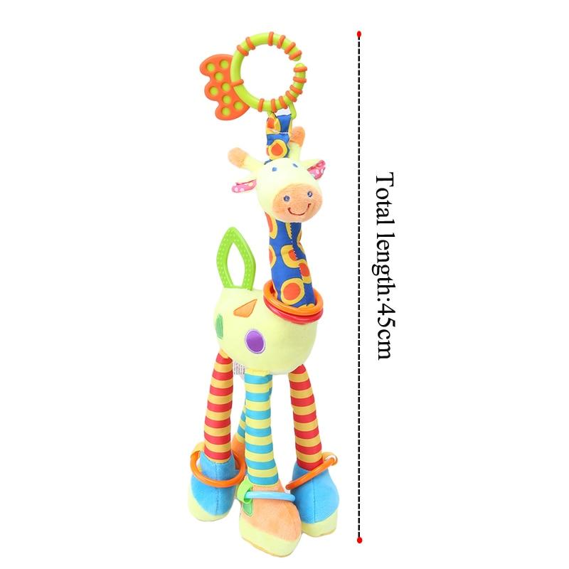 Plišaste igrače za dojenčke, žirafe, zvončki, ropotuljice, - Igrače za dojenčke in malčke - Fotografija 4