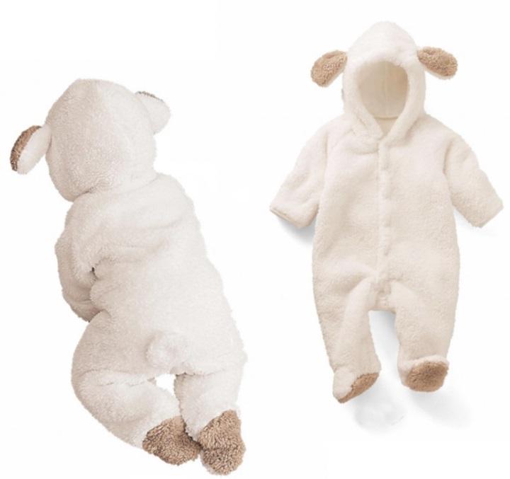 Newborn Baby Romper 2019 Autumn Winter Warm Fleece Infant Boy Girls Jumpsuit Pajamas Clothes