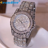 Splendid 2016 Hot 1PC New Luxury Women Watches Reloje Rhinestone Ceramic Crystal Quartz Watches Lady Dress
