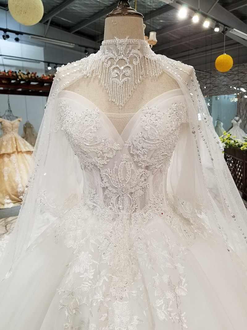 LS85520 свадебное платье кружевные цветыожерелье украшения с открытыми плечами нарядное платье с плеча цепи милая свадебное торжественное платье с воротниками и накидка
