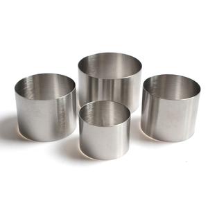 Image 3 - 50mm 60mm 63mm 76mm Diameter Stainless Steel Round Shape Mousse Ring Cake Mold Mousse Cake Ring Baking Cake Decorating Tools
