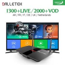IPTV Európa Arab Top Box 1200+ kiváló minőségű francia Newtherland Spanyolország előfizetés ingyenes a Quad-Core Fast CPU Android TV Box