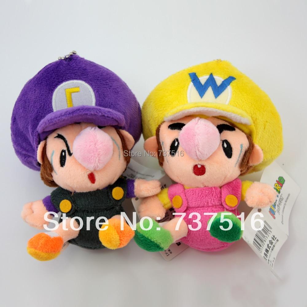 Super Mario Baby Waluigi & Baby Wario Plush Doll Adorable ...