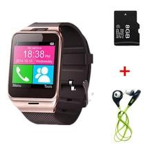 Gv18 Tarjeta SIM Reloj Inteligente Bluetooth Del Teléfono Smartwatch apoyo NFC Cámara de Llamadas SMS para Samsung Xiaomi Huawei LG Android smarthone