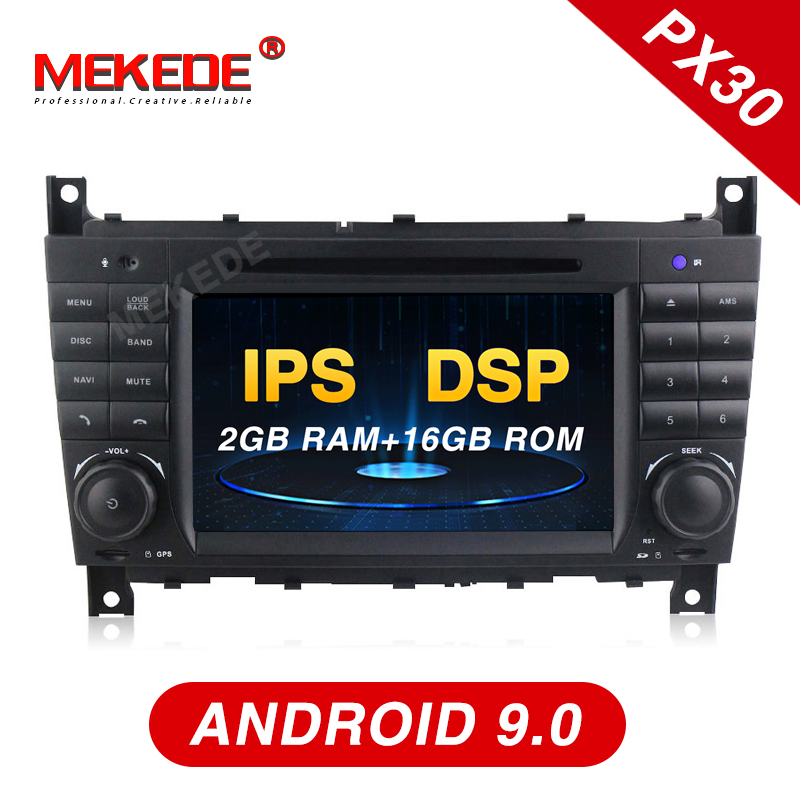 Mekede PX30 IPS DSP android 9 0 Car radio GPS navigation player for Mercedes Benz W203
