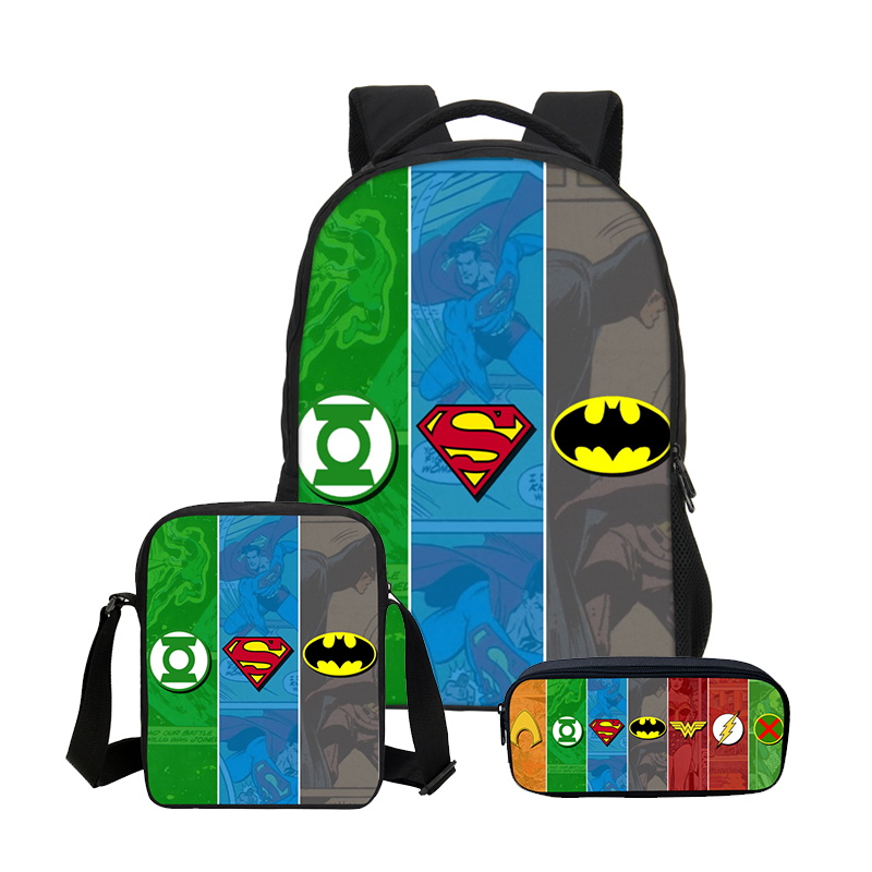VEEVANV Batman Boys School Backpacks Fashion Travel 3 Pcs Set ... 6674225e5afd4
