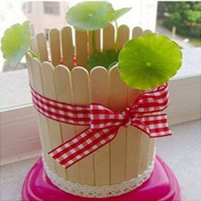 20 PCS Popsicle Stick Birch Wood Ice Cream Lolly Wooden Art Crafts DIY