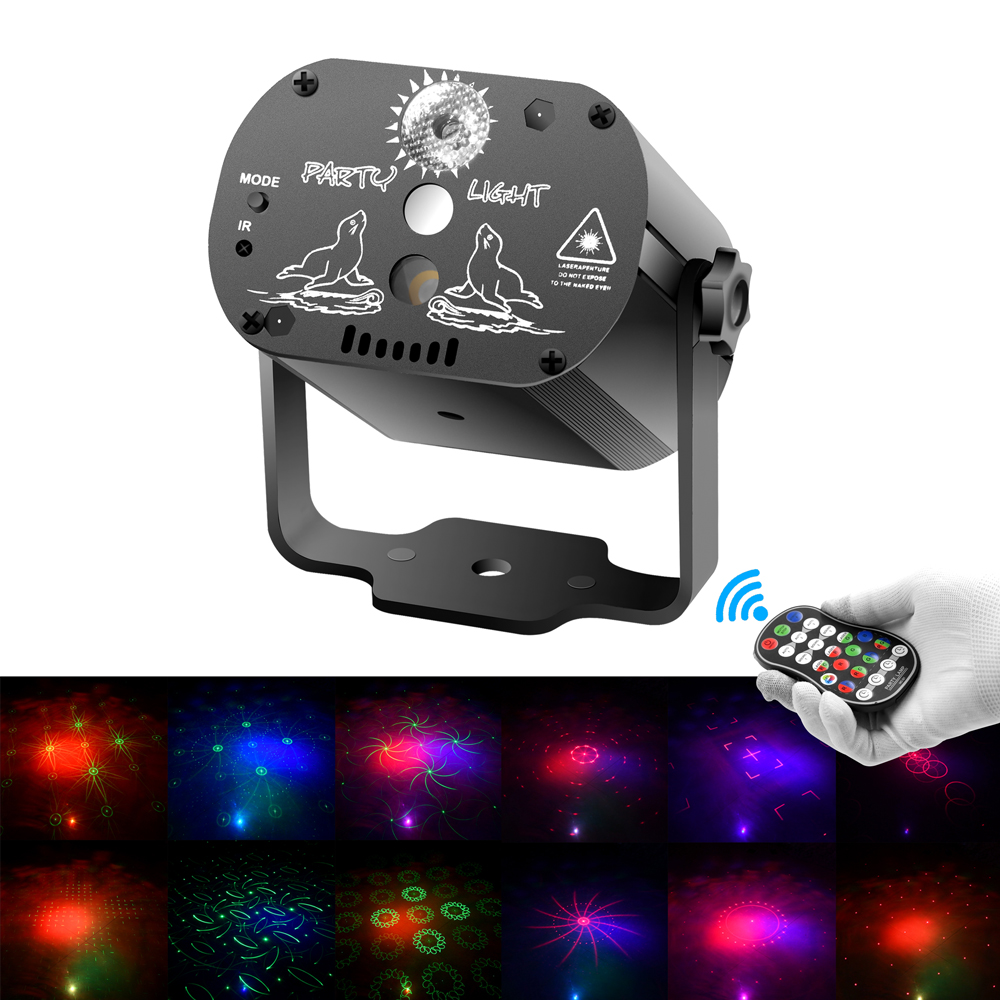 SOLOLANDOR DJ Disco Lighting Effect LED Party Lights Mini USB Laser Light Projector for Sale for Wedding Birthday