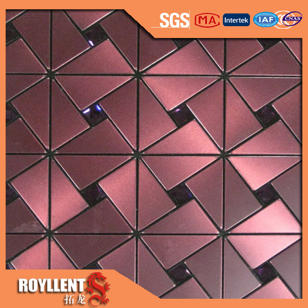 Royllent Acp Mosaic Art Decor Aluminum Self Adhesive Wall Kitchen Backsplash  Tile Countertop Interior Designs Decorating