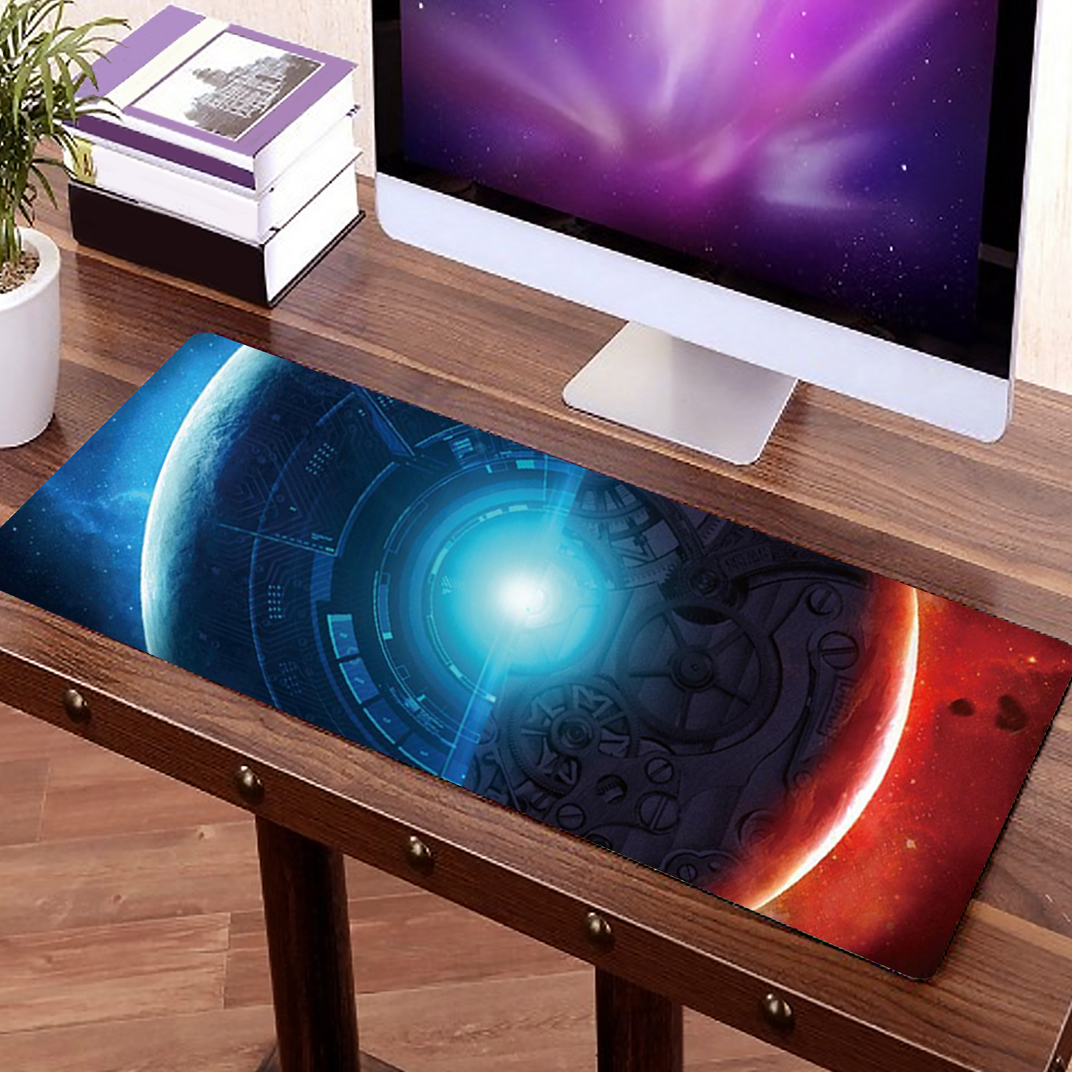Besegad 40 X 90cm Large Size Star Non-Slip Rubber Gaming Mousepad Mouse Pad Non-Slip Laptop Computer Mice Mat For LOL DOTA Gamer
