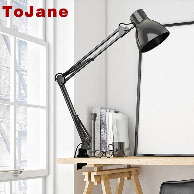 ToJane TG801  Long Swing Arm Desk Lamp Led Table Lamp Office Led Reading Light Home Lampe Bureau Led Desk Lamp Clip