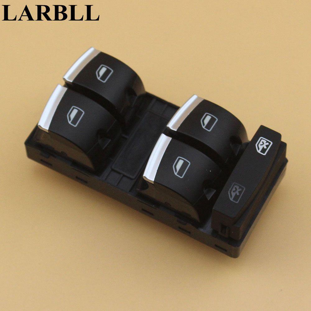 LARBLL Chrome Commutateur Principal De Fenêtre 4F0959851H Pour Audi A3 8 P A4 S4 RS4 RS6 C6 Q7