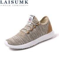 2017 LAISUMK Men Casual Shoes Summer Breathable Mesh Men Shoes Lightweight Men Flats Fashion Casual Water