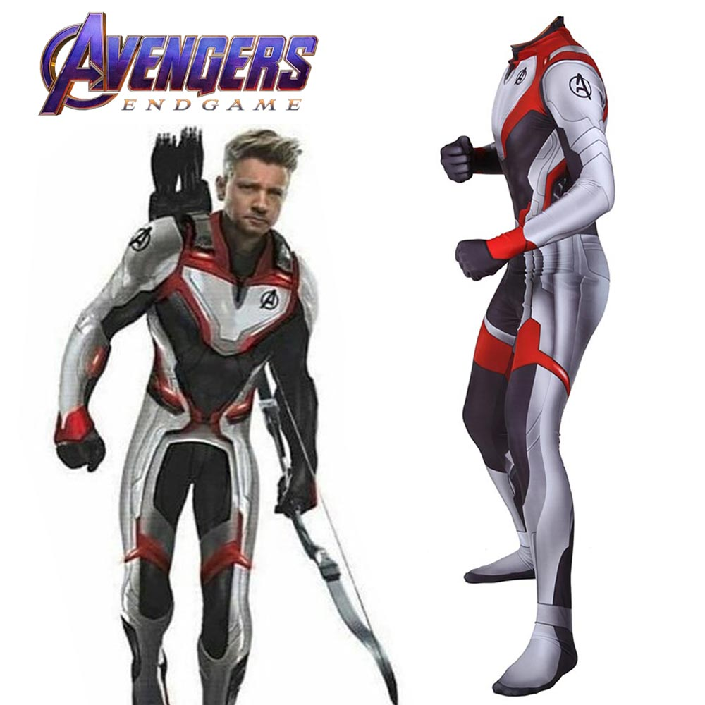 New Avengers Endgame Quantum Realm Battle Suits Averngers Cosplay Costume   Marvel Superhero Bodysuit Adult Zentai Jumpsuit