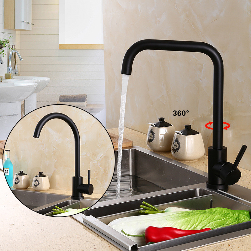 SHMIAO Black White Kitchen Faucet Sink Mixer Taps Torneira Para Cozinha Inox Keukenkraan Mengkraan Robinet Cuisine