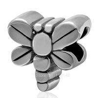 Tom Antique Dragonfly Animal Real 925 Sterling Silver Grande Buraco Beads Europeus Para Jóias Charme Europeu Fazendo SAPB3108