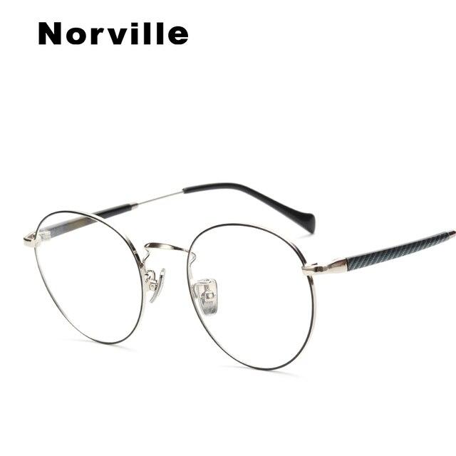 ab699bac0f4 2018 metal men women optical glasses frame round retro clear vintage myopia  designer trendy spectacle frame  HR1322