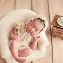 Flokati Newborn Photography Accessories Blanket Posing Sofa White Dot Soft Sofa Props New Baby Photo Studio Shooting Theme Props