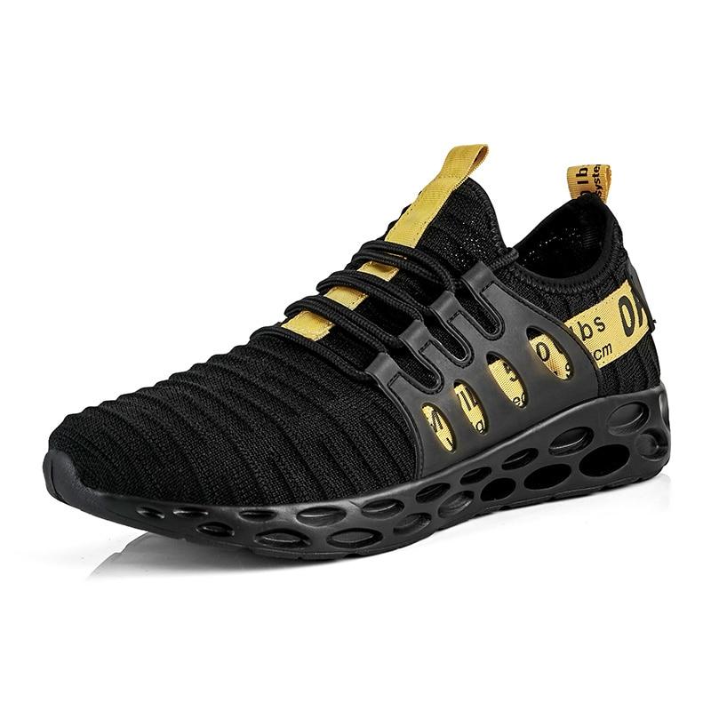 Chaussures de course pour hommes été lame respirante grande taille léger homme chaussures Zapatillas Hombre Deportiva marque blanc cassé baskets