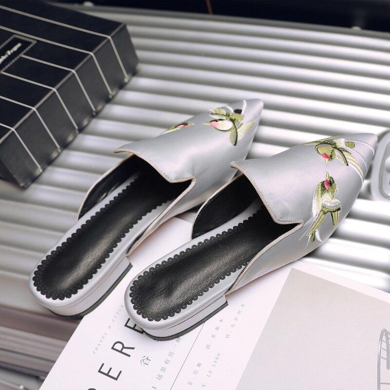 1 Pantoufles Sapato Grande Chaussures Printemps Casual Sandalias Fasion rouge Été 2017 1028 Plage Broder Style Mujer gris Noir Femmes Sandales Maison Taille BEawfUq