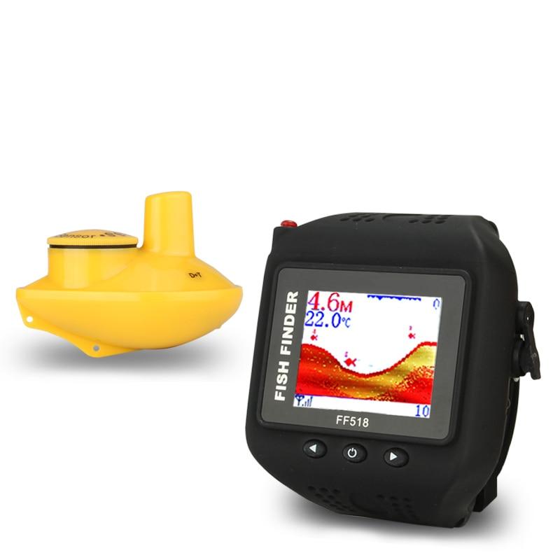 SEWS-FF518 lokalizator ryb bezprzewodowa echosonda sonarowa 180 stóp (60 M) przenośny produktów Eco wędka ue wtyczka