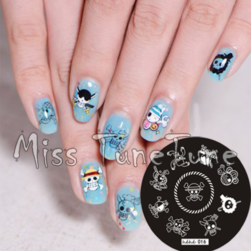 New Stamping Plate hehe16 Cartoon Anime One Piece Skull Pirate Nail Art  Stamp Template Image Transfer - New Stamping Plate Hehe16 Cartoon Anime One Piece Skull Pirate