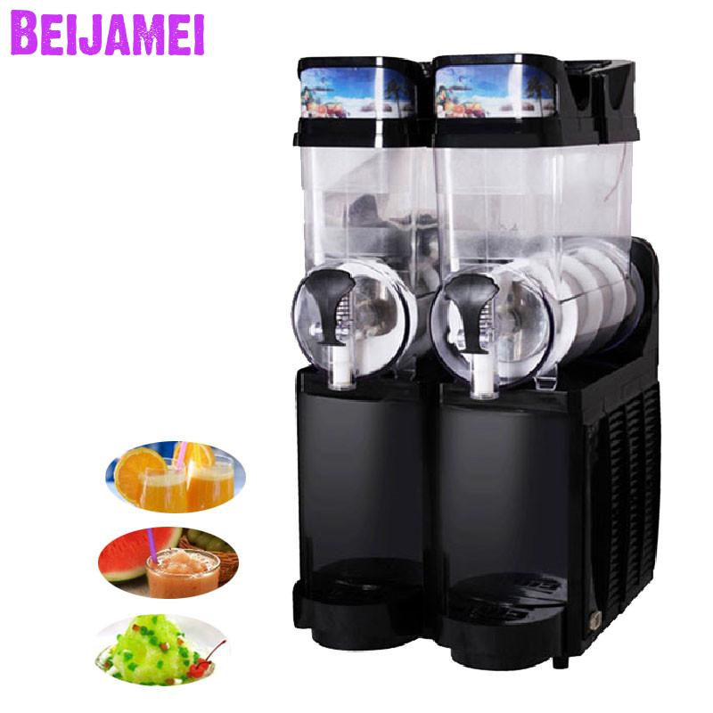 Beijamei Factory Price Two Cylinder Slush Slushy Machines Commercial Industrial Snow Melting Cold Drink Machine
