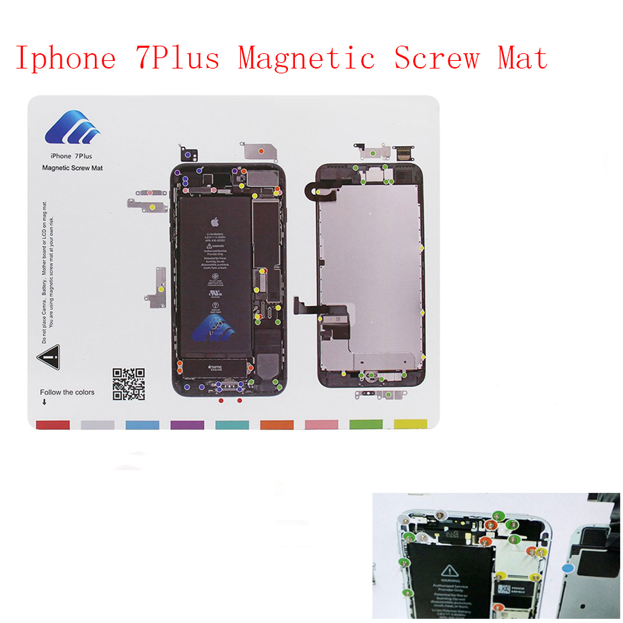 High quality Guide Pad Tools opening repair mobile tool for iphone 7Plus lcd screw magnetic work mat plate
