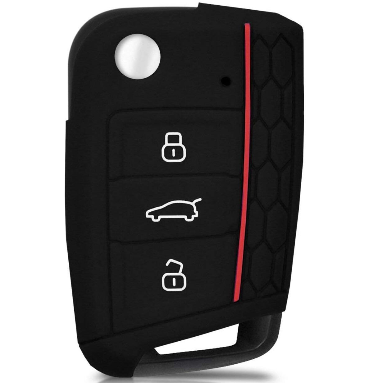 Силиконовый резиновый автомобильный ключ для стайлинга автомобиля чехол Чехол для VW Volkswagen Golf 7 mk7 Skoda Octavia A7 автомобильный Стайлинг