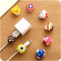 10pcs/lot  Lovely Cute Animal Cable Winder For iPhone Android Data Line Protection Set  Headset Charging Wire Protection