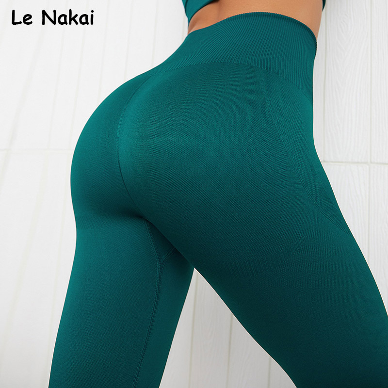 High waist seamless leggings solid yoga legging workout gym leggings fitness sport legging fitness yoga pants sportswear
