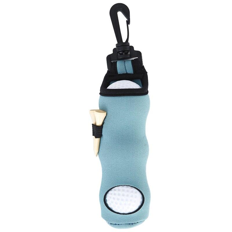 Golf small waist packing 3 balls 3 tee personal items small bag, Light blue