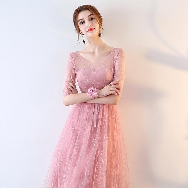 Women Backless Party Dress Pink Korean Style Off Shoulder Romantic Dresses  Women