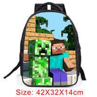 e7f984e4a5f3 Рюкзак с тиле Minecraft 2019 Горячие основной студент школьные ранцы для мальчиков  обувь для девочек детский