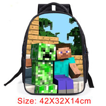 Minecraft Backpack 2019 Hot Primary Student School Bags For Boys Girls Cartoon Kids Backpack Daily Children SchoolBag Backpack(China)