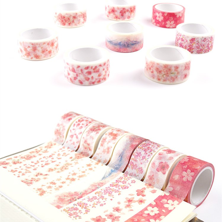 Fujisan Sakura Washi Tape DIY Decorative Scrapbooking Masking Tape Adhesive Tape Set Label Sticker