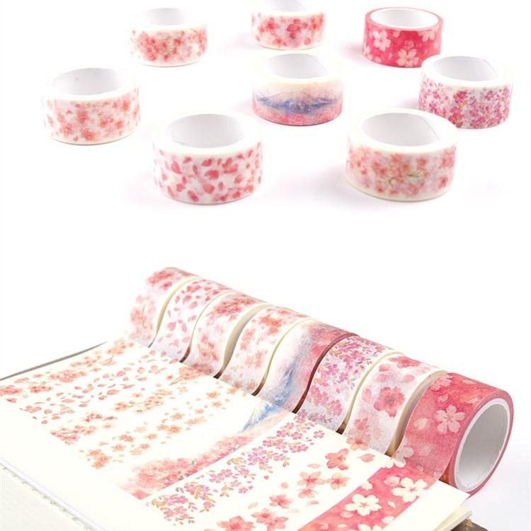 Fujisan Sakura Washi Tape DIY Decorative Scrapbooking Masking Tape Adhesive Tape Set Label Sticker