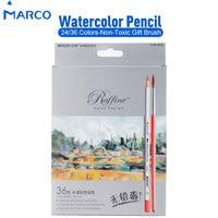 בסיס מים מסיס מרקו עפרונות צבעוניים 24 36 צבעים עבור תיבת נייר שרטוט ציור אמן עיפרון מכתבים ומתנות