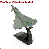 kids toys 1:100 Scale Diecast Typhoon Fighter EF 2000 Military Decoration Diecast Aircraft Plane Model Alloy AirlineToy