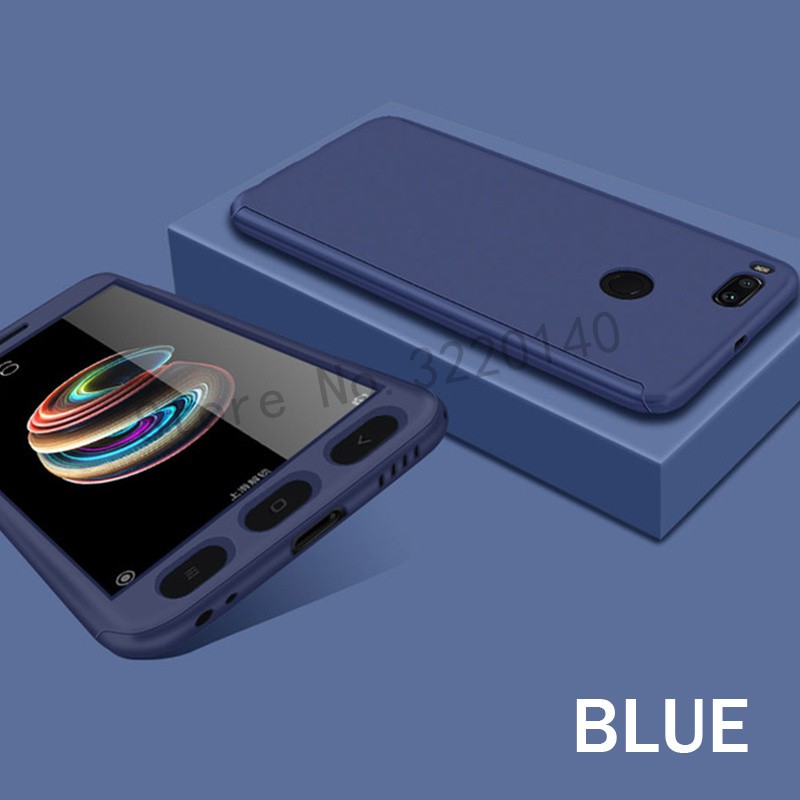 360 Degree Full Cover Cases For Xiaomi MI A1 mi 5x case Phone shell For Xiaomi redmi Note 4 4X case For redmi 4A 4X With Glass9