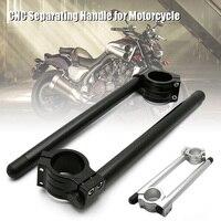 1pair Universal Aluminium Alloy Motorbike CNC Fork Tube Adjustable Clip On Handlebars 31/32/33/35mm XR657