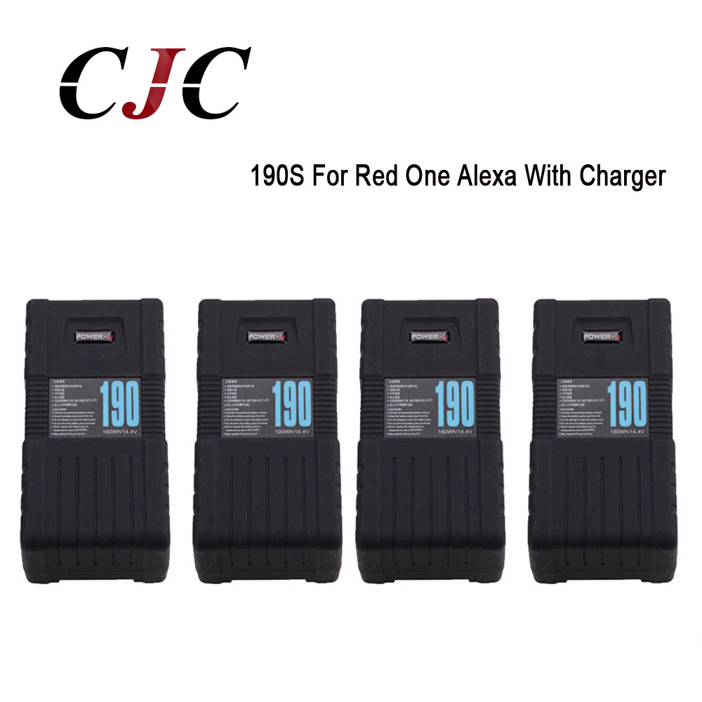 4 X Bp-190s Power-u 190wh 13000mah V-mount Li-ion Battery For Sony Red One Alexa With Charger Replacement Battery Mild And Mellow