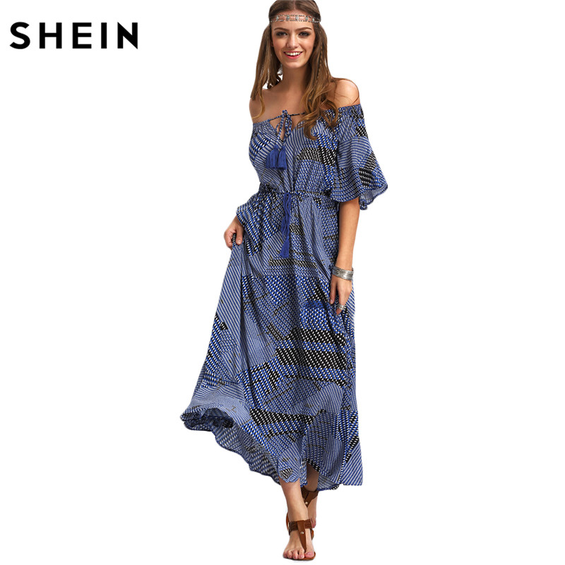 SHEIN Ladies font b Dresses b font 2016 Summer New Arrival font b Vintage b font