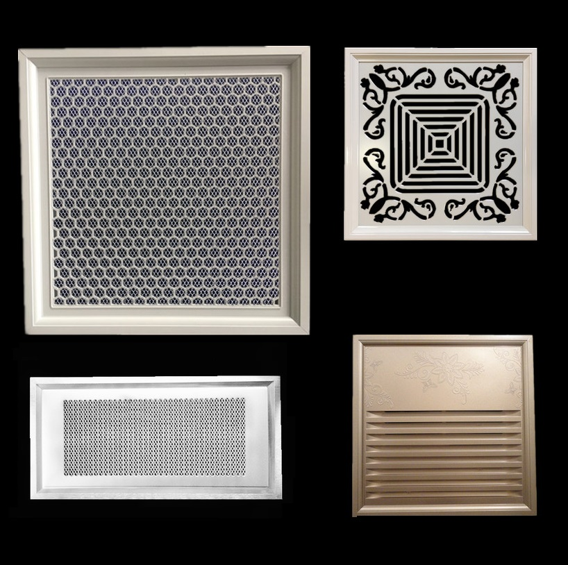 Premintehdw 30*30cm Rectangle Fancy Wall Ceiling Air Vent Ventilator Grille VENT COVER Clip On