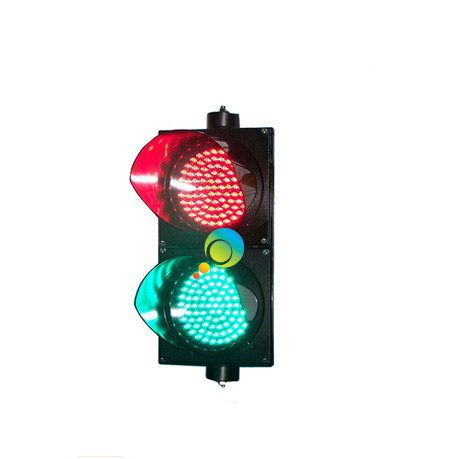 AC85-265V Vertical Installation CE RoHS  Approved PC Shell 200mm Red And Green LED Traffic Signal Light