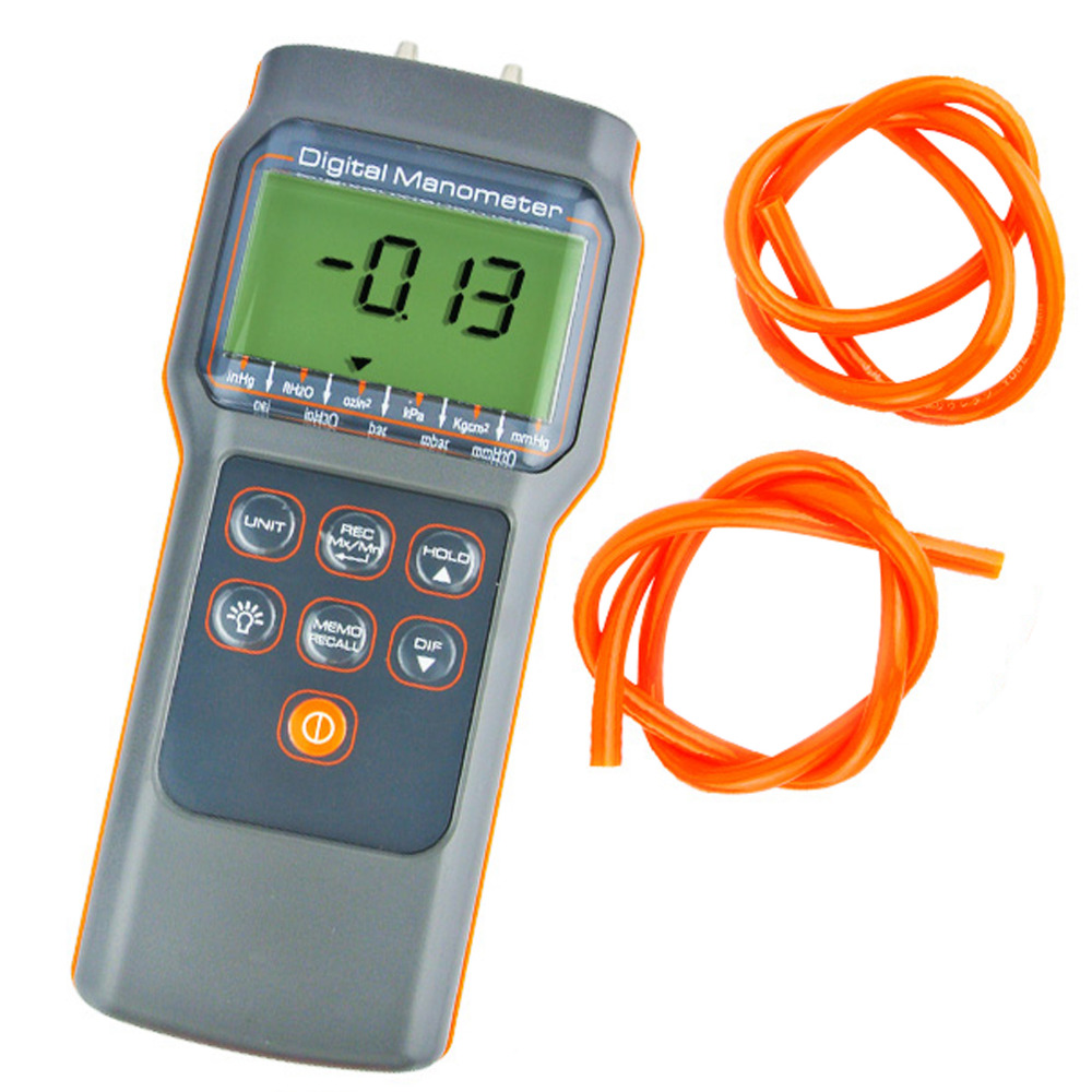 Digital Economic Professional Manometer 15.000psi Gauge Differential Pressure Meter bar mmHg inHg kPa mbar Industrial Tester
