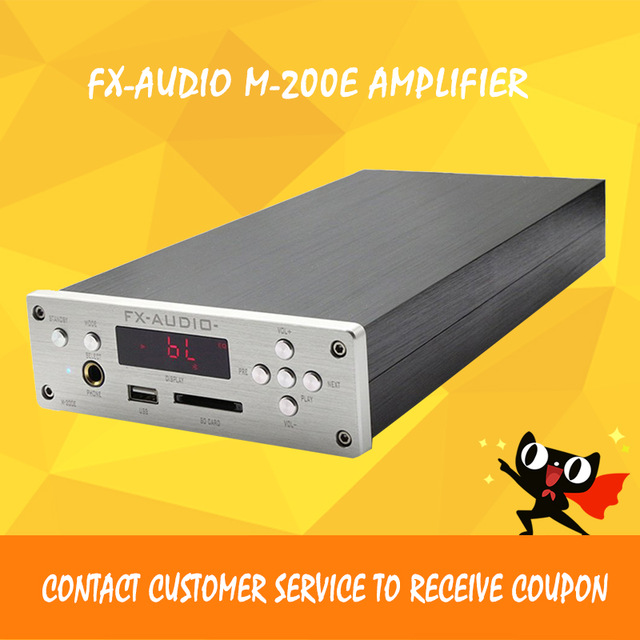 FX-AUDIO M-200E bluetooth amplifier hifi amplifier 2.1 digital amplifier power amplificador audio fx audio m 200e mini hifi audio high fidelity amplifier support u disk sd card lossless bluetooth 4 0 120w 2 220v