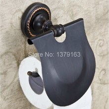 Modern Oil Rubbed Bronze Wall Mounted Copper Toilet Paper Roll Holder  aba215 modern wall mounted bathroom oil rubbed bronze with ceramic toilet paper holder waterproof