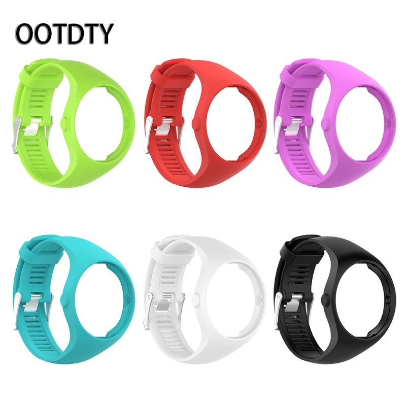 OOTDTY Smart Watchband Strap Silicone Watch Band Wristband Bracelet Replacement For Polar M200 GPS Watch